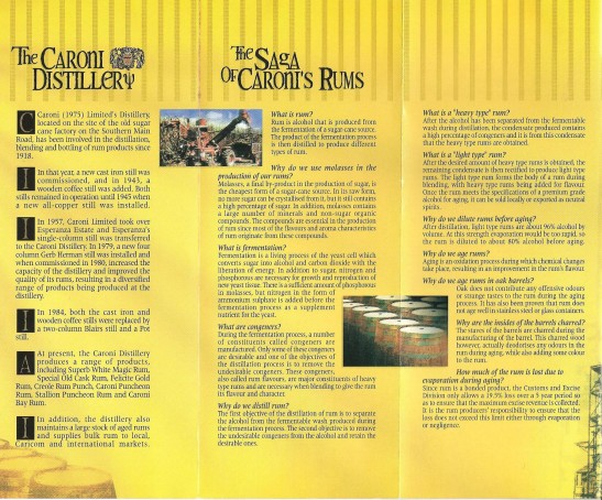 Caroni Distillery Brochure
